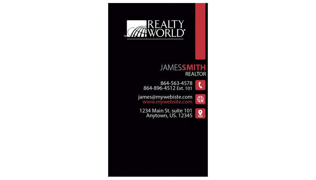 Realty World Business Card 25 | Realty World Business Card Template 25