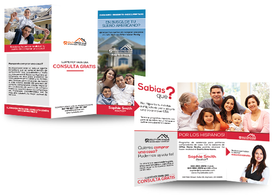 Real Estate Spanish Brochure Templates  Spanish Brochure Templates