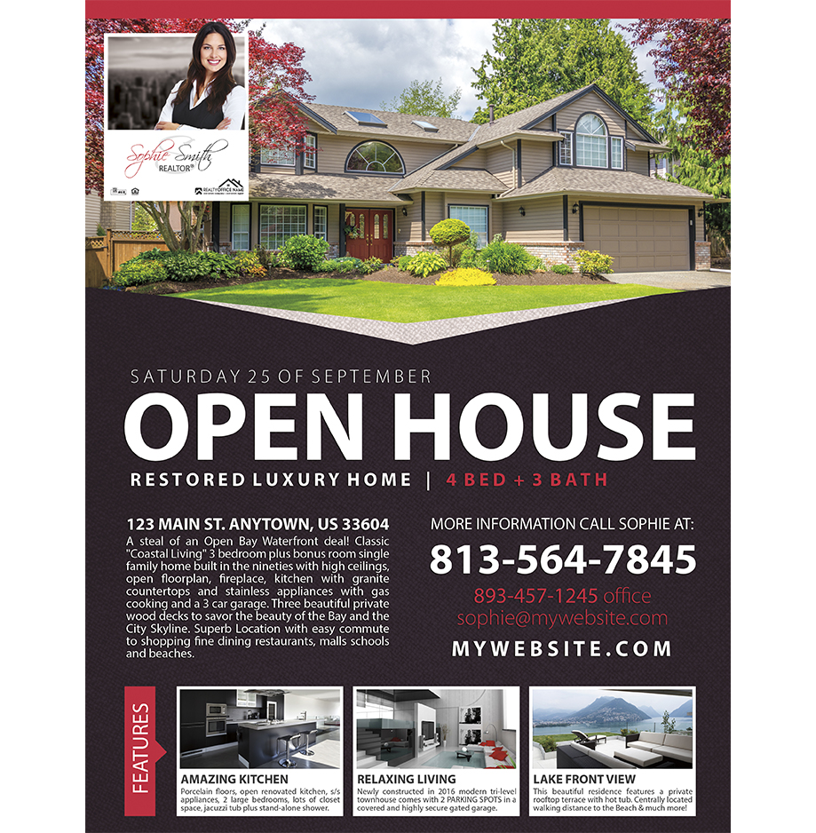 Real Estate Flyers 07 | Real Estate Agent Flyers 07, Real Estate Office  Flyers 07  Open House Flyers