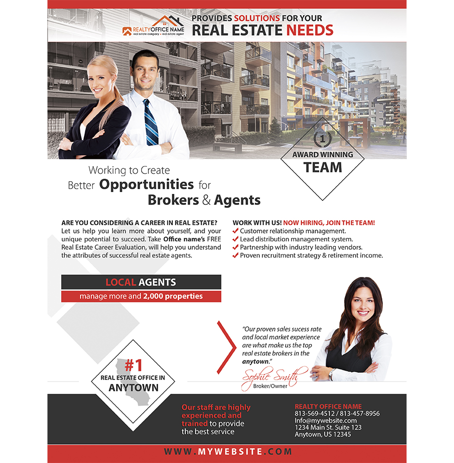 real estate flyer printing real estate agent flyer printing
