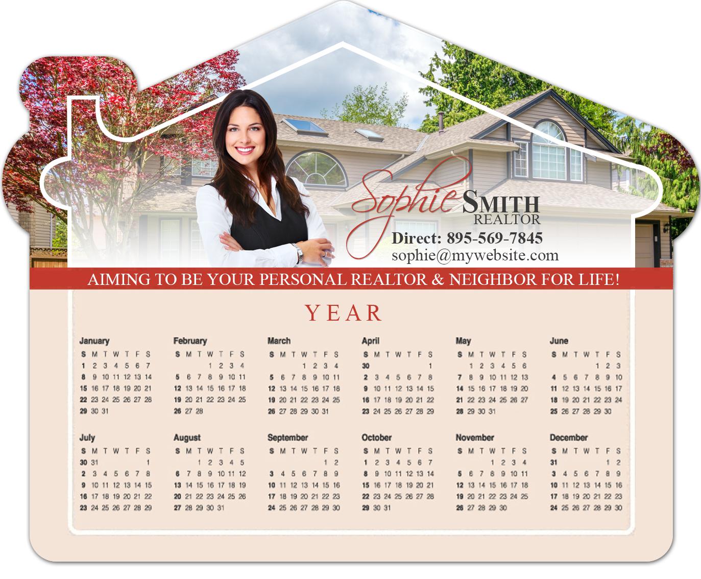 Real Estate Calendar Design : Real estate magnets custom