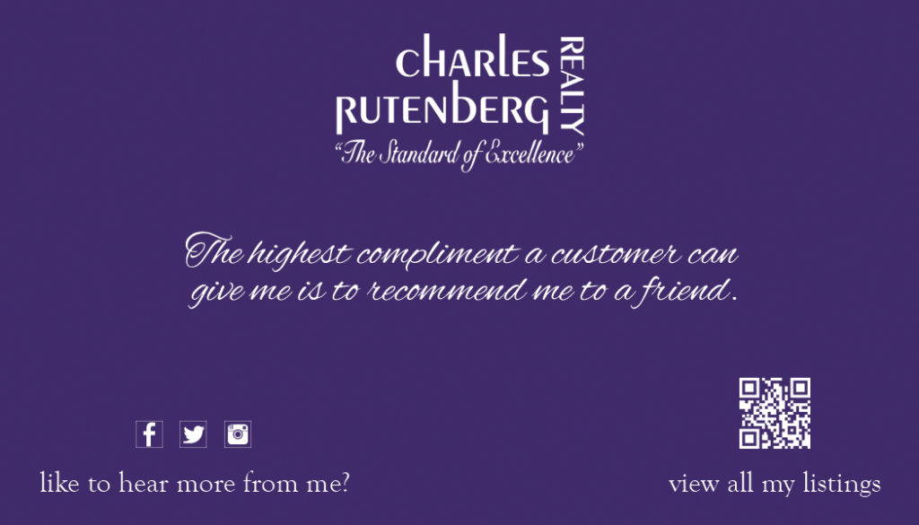 Charles Rutenberg Business Card   Charles Rutenberg Printing