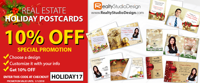 Holiday Postcards, Real Estate Holiday Postcards