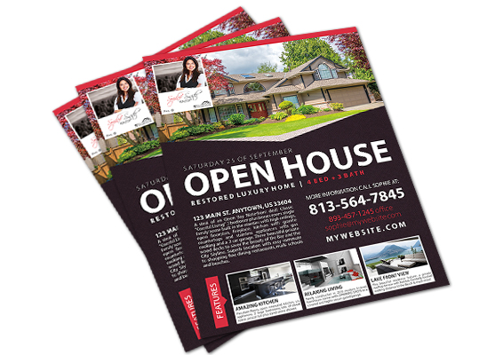 Open House Flyers | Agent Open House Flyer, Realtor Open House Flyer
