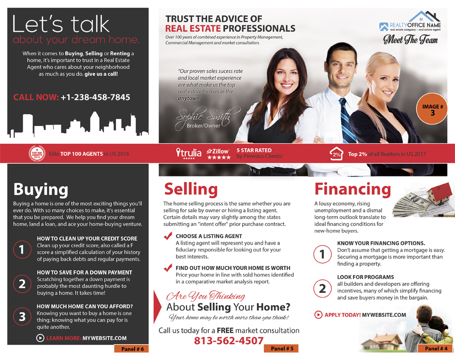 Real estate marketing brochures arts arts for Marketing handouts
