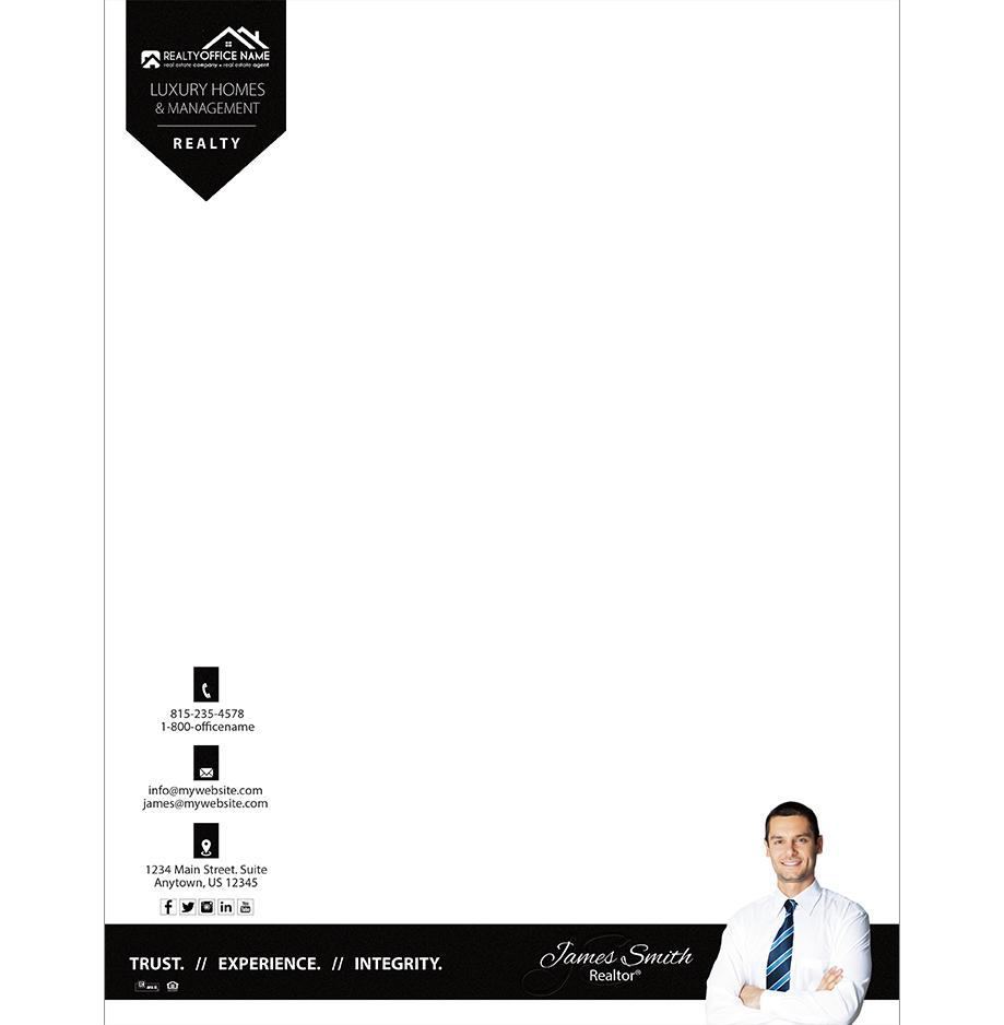 Real estate letterhead samples realtor letterhead samples real estate letterhead rsd lh 107 spiritdancerdesigns Images