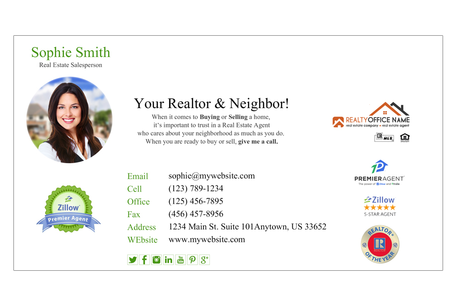 Real Estate Email Signature   Real Estate Email Signature Template