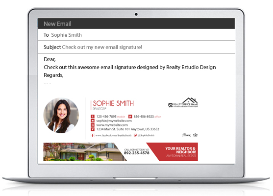 Real Estate Email Signatures | Realtor Email Signatures, Real Estate Agent Email Signatures, Real Estate Office Email Signatures, Broker Email Signatures