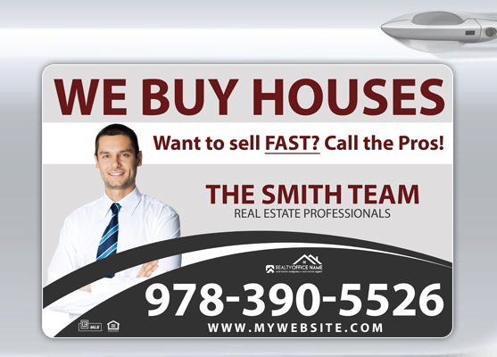 Real Estate Car Magnets | Real Estate Magnetic Car Signs, Magnetic Real Estate Signs, Realtor Car Magnets - Real Estate Magnetic Signs for Cars