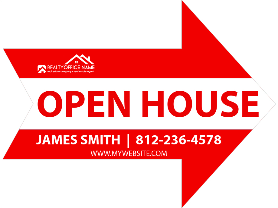 Real Estate Custom Shaped Yard Signs | Signs Cut to Custom Shape, Custom House Shape Yard Signs, Custom Arrow Shape Yard Signs, Custom Circle Shape Signs