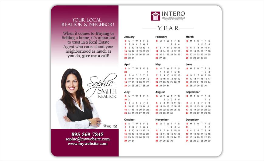 Intero Real Estate Calendar Magnets | Intero Real Estate Calendar Magnet Templates, Intero Real Estate Calendar Magnet Printing