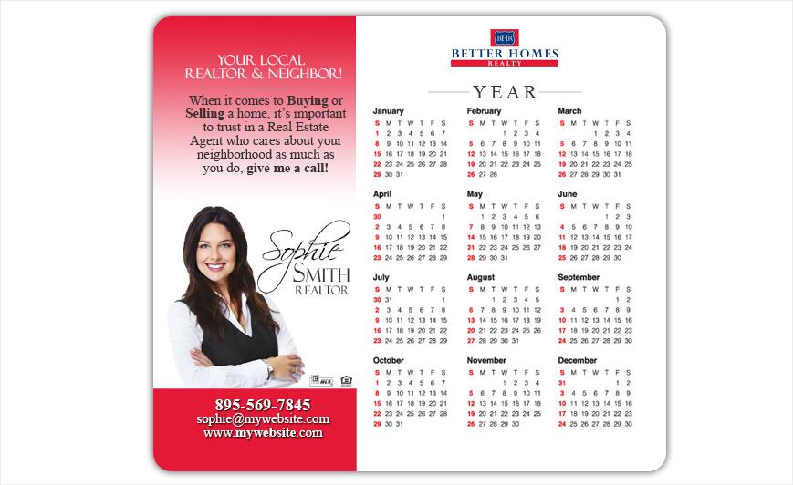 Better Homes Realty Calendar Magnets   Better Homes Realty Calendar Magnet Templates, Better Homes Realty Calendar Magnet Printing