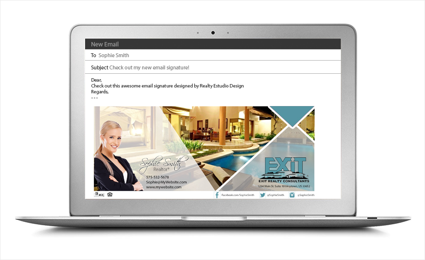 Exit Realty Email Signatures | Exit Realty Email Signature Templates, Exit Realty Email Signature Ideas, Exit Realty Email Signature Designs