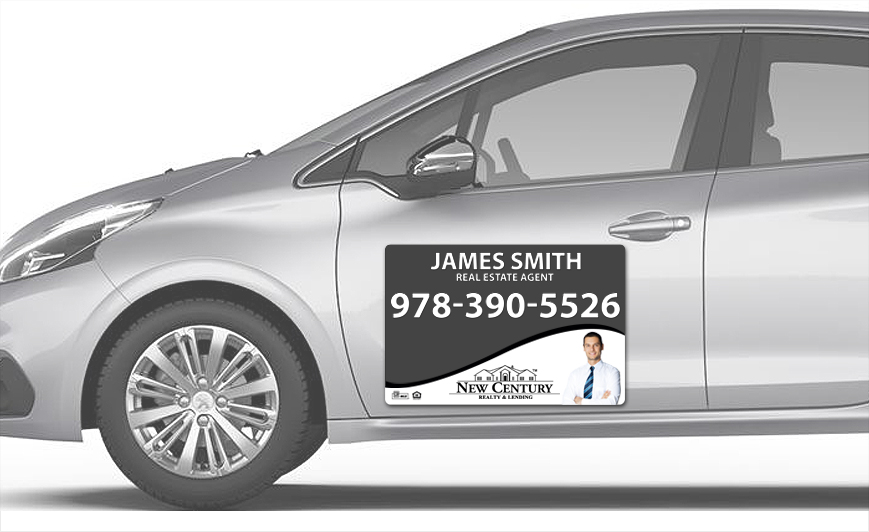 New Century Realty Car Magnets | New Century Realty Car Magnet Templates, New Century Realty Car Magnet Printing, New Century Realty Car Magnet Ideas