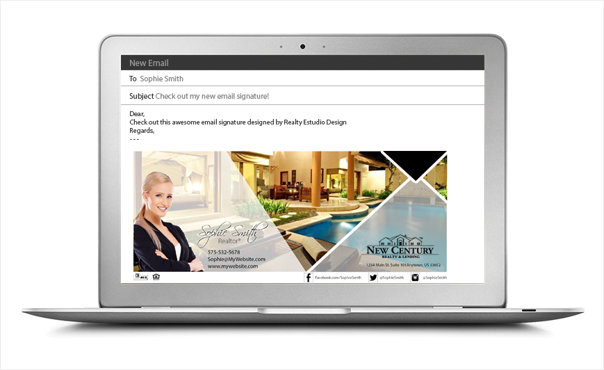 New Century Realty Email Signatures | New Century Realty Email Signature Templates, New Century Realty Email Signature Ideas, New Century Realty Email Signature Designs