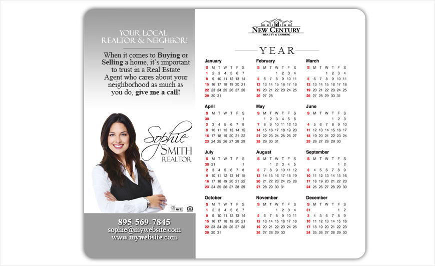 New Century Realty Calendar Magnets | New Century Realty Calendar Magnet Templates, New Century Realty Calendar Magnet Printing