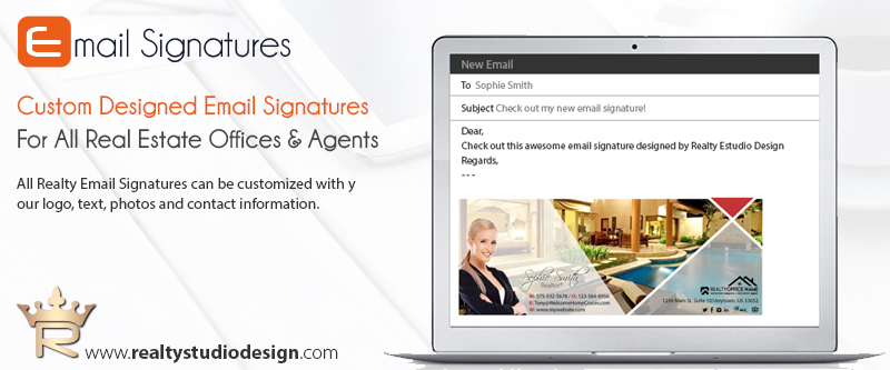 Real Estate Email Signature Templates | Realtor Email Signature Templates, Real Estate Email Signature Ideas, Real Estate Email Signature Designs