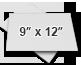 ○ 9″ x 12″
