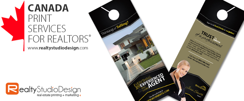 anada Realtor Door Hangers | Canada Real Estate Door Hangers, Canada Broker Door Hangers, Canada Real Estate Agent Door Hangers
