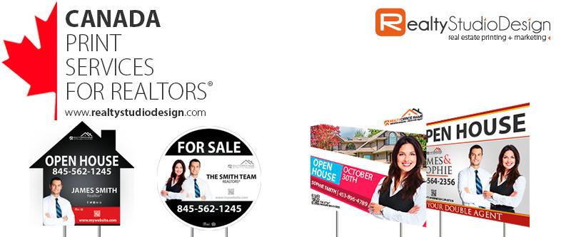 Canada Realtor Yard Signs | Canada Real Estate Yard Signs, Canada Broker Yard Signs, Canada Real Estate Agent Yard Signs, Canada Office Yard Signs