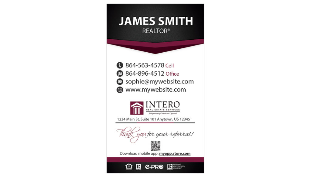 Intero Real Estate Business Cards, Intero Real Estate Business Card Templates, Intero Real Estate Business Card Ideas, Intero Real Estate Business Card Printing, Intero Real Estate Business Card Designs, Intero Real Estate Business Card New Logo