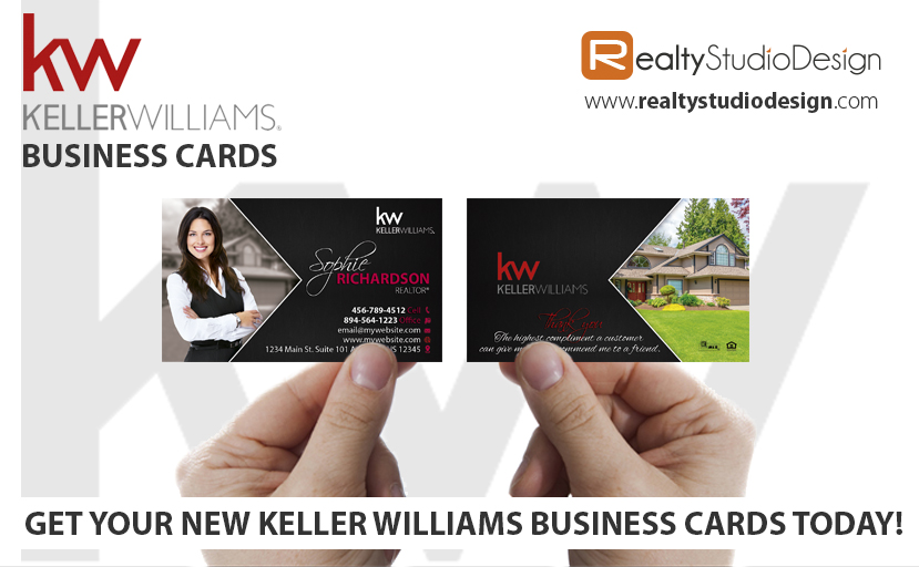 Keller Williams Cards | Modern Keller Williams Cards, Keller Williams Card Printing, Keller Williams Card Design, Keller Williams Card Ideas