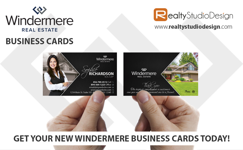 Windermere Business Cards, Windermere Realtor Business Cards, Windermere Agent Business Cards, Windermere Broker Business Cards, Windermere Office Cards