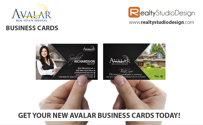 Avalar Real Estate Business Cards, Avalar Realtor Business Cards, Avalar Real Estate Agent Business Cards, Avalar Real Estate Broker Business Cards