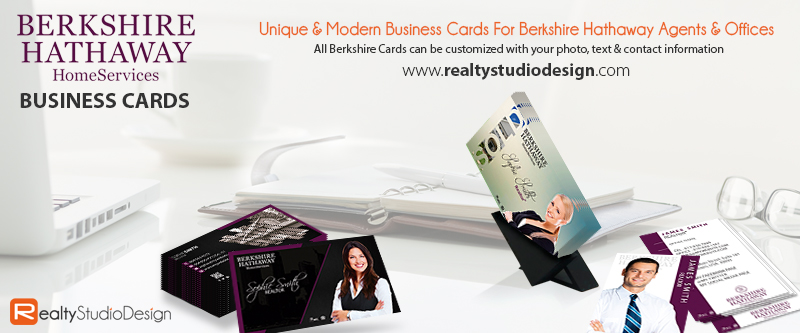 Berkshire Hathaway Business Card Templates | Berkshire Hathaway Business Cards, Berkshire Hathaway Cards, Modern Berkshire Hathaway Business Cards