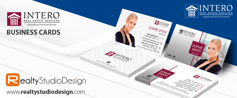 Intero Real Estate Cards | Intero Cards, Intero Realtor Cards, Intero Agent Cards, Intero Broker Cards, Intero Office Cards
