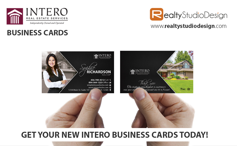 Intero Business Cards, Intero Realtor Business Cards, Intero Agent Business Cards, Intero Broker Business Cards, Intero Office Cards