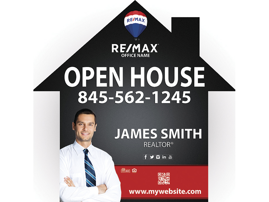 Remax House Shaped Sign, Remax Yard Signs, Remax Signs, Remax Agent Signs, Remax Realtor Signs, Remax Office Signs, Remax Broker Signs