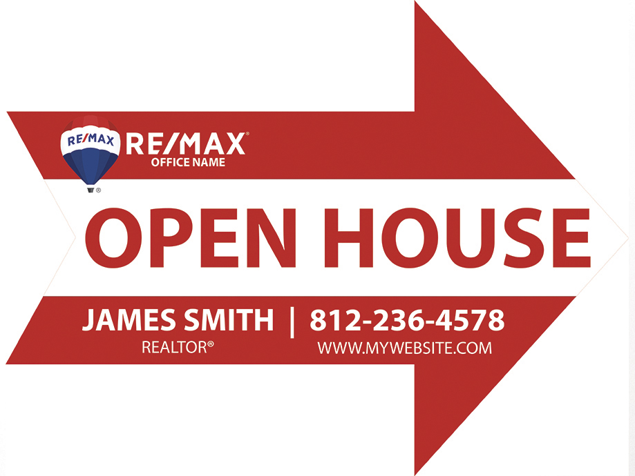 Remax Arrow Shaped Sign, Remax Yard Signs, Remax Signs, Remax Agent Signs, Remax Realtor Signs, Remax Office Signs, Remax Broker Signs