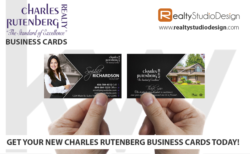 Charles Rutenberg Business Cards, Charles Rutenberg Realtor Business Cards, Charles Rutenberg Agent Business Cards, Charles Rutenberg Broker Business Cards