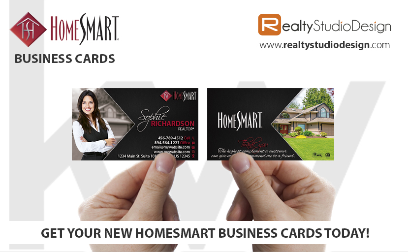 HomeSmart Business Cards, HomeSmart Realtor Business Cards, HomeSmart Agent Business Cards, HomeSmart broker Business Cards