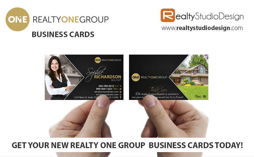 Realty One Business Cards, Realty One Cards, Realty One Agent Business Cards, Realty One broker Business Cards, Realty One Realtor Business Cards