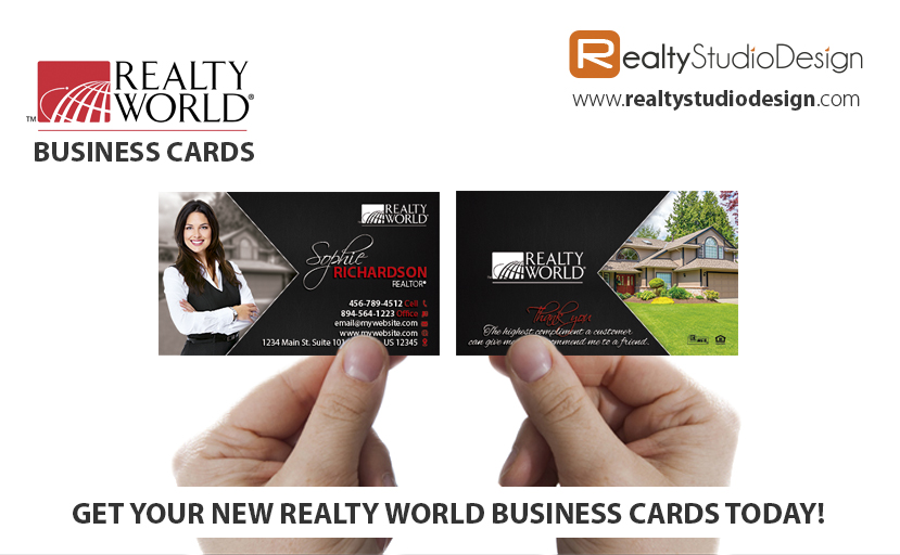Realty World Modern Cards, Realty World Modern Realtor Cards, Realty World Modern Agent Cards, Realty World Modern broker Cards