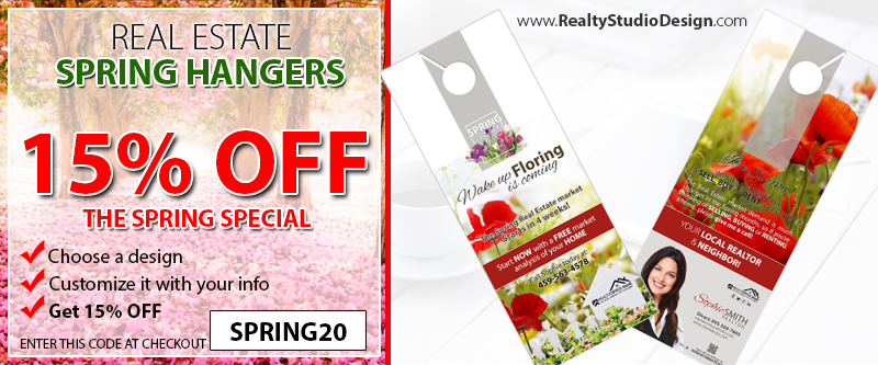 Realtor Holiday Door Hangers, Real Estate Agent Holiday Door Hangers, and Broker Holiday Door Hangers.