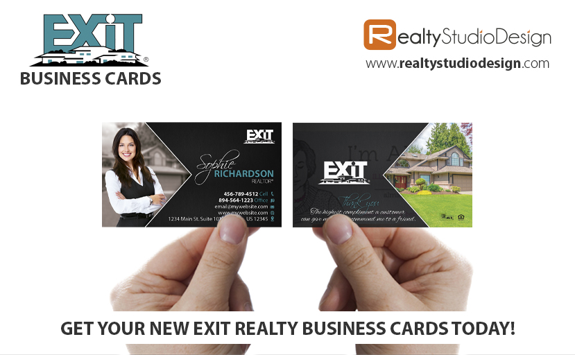 Exit Business Cards | Exit Business Card Printing, Exit Business Card Designs, Exit Business Card ideas, Exit Business Card Templates