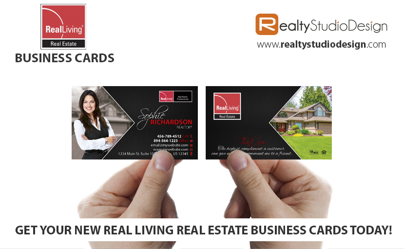 Real Living Real Estate Cards, Real Living Realtor Cards, Real Living Agent Cards, Real Living Broker Cards, Real Living Office Cards