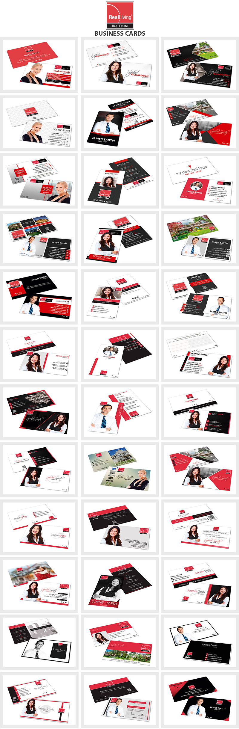 Real Living Real Estate Business Cards, Real Living Realtor Business Cards, Real Living Agent Business Cards, Real Living Broker Business Cards, Real Living Office Business Cards