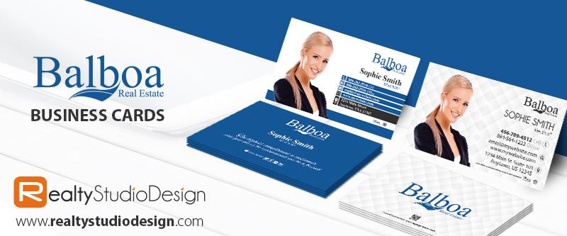 Balboa Real Estate Cards, Balboa Realtor Cards, Balboa Broker Cards, Balboa Agent Cards, Balboa Office Cards, Balboa Card Printing, Balboa Card Templates