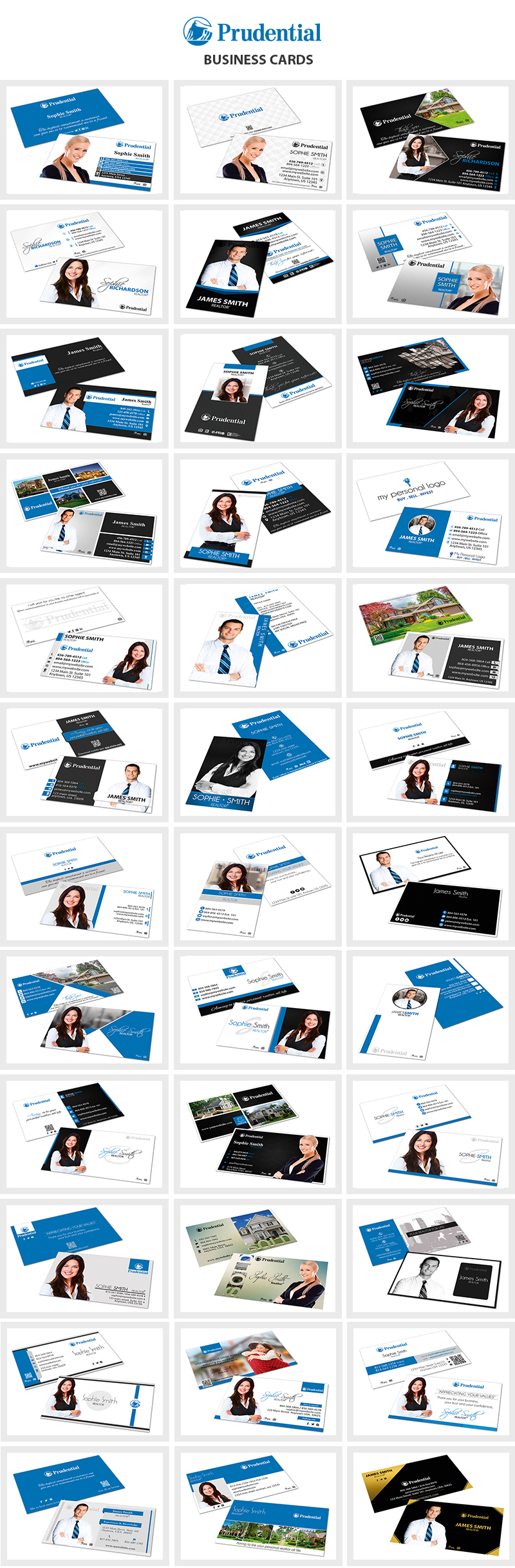 Prudential Financial Business Cards, Prudential Realtor Business Cards, Prudential Agent Business Cards, Prudential Broker Business Cards, Prudential Office Business Cards