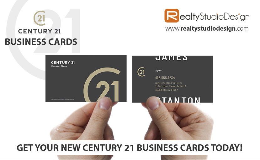 C21 Business Cards, C21 Realtor Business Cards, C21 Agent Business Cards, C21 Office Business Cards, C21 Broker Business Cards