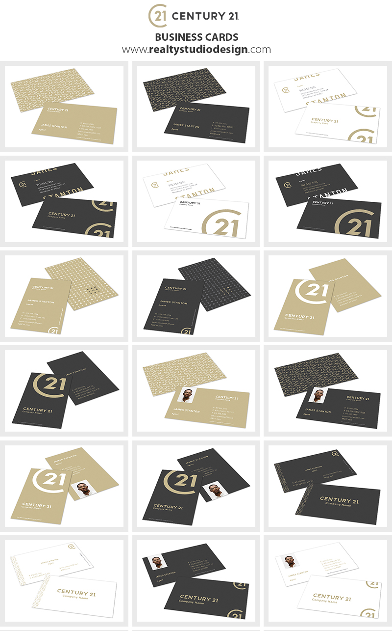 Century 21 Business Cards New Logo, New C21 Logo, New Century 21 Logo, Century 21 New Card Templates, Century 21 New Card Designs